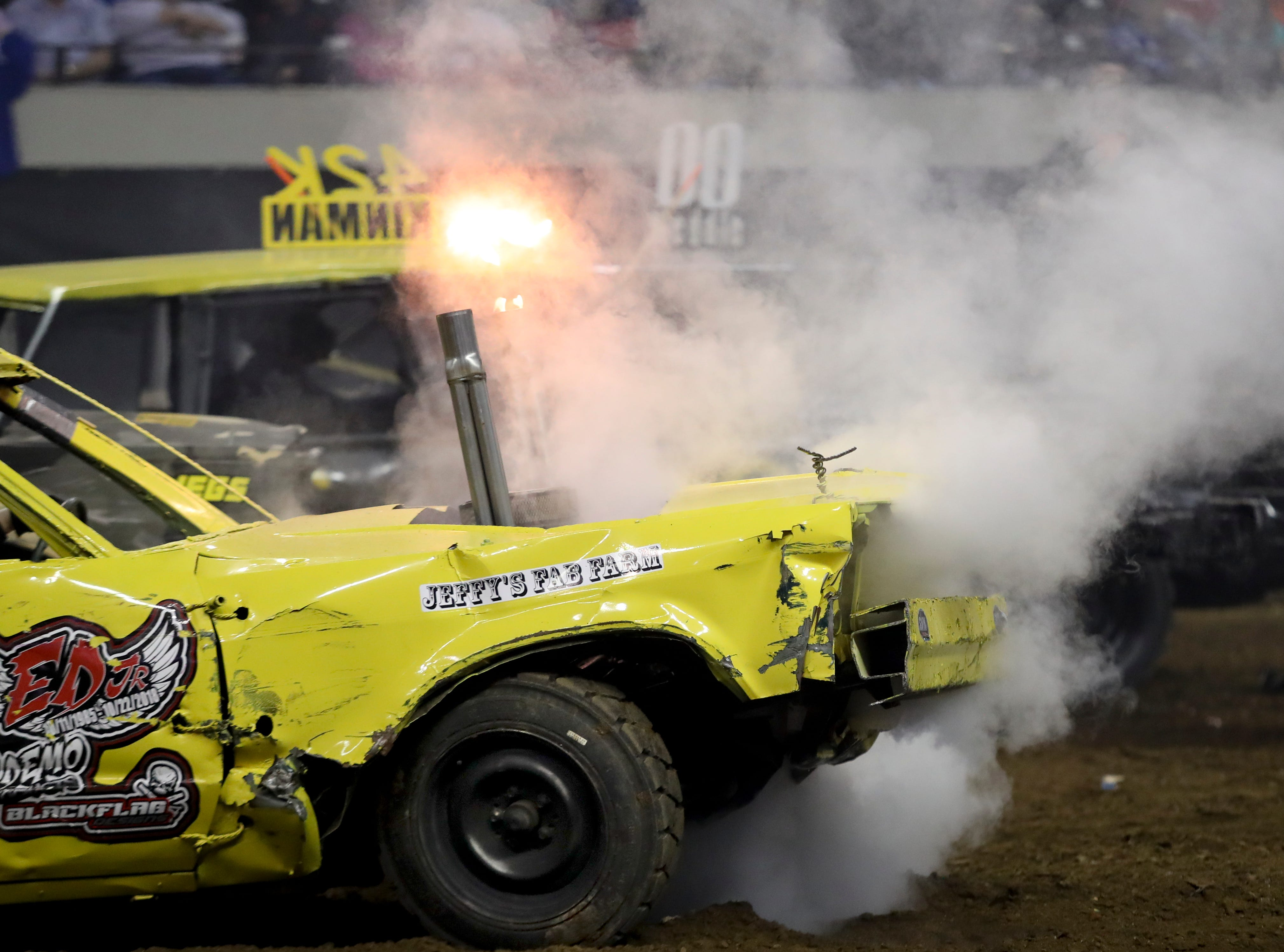 Smoking engines, metal crunching and dirt flying entertained the crowd at the 4th annual Bluegrass Bash Demolition Derby in Freedom Hall on March 23.