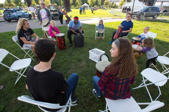 WUOL's Music Education Manager Jecorey Arthur holds a Classic Corner session during WFPK's Waterfront Wednesday.