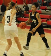 Mansfield Senior's Talayza Catchings had a big night for Team Black in the senior all-star game at Shelby High School.