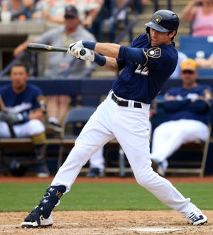 The Brewers' Christian Yelich doesn't like hearing predictions that he's due for a regression this season after a stellar year at the plate in 2018.