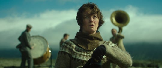 """Halldóra Geirharðsdóttir is determined to stop a new heavy-industry development by any means necessary in """"Woman at War."""""""