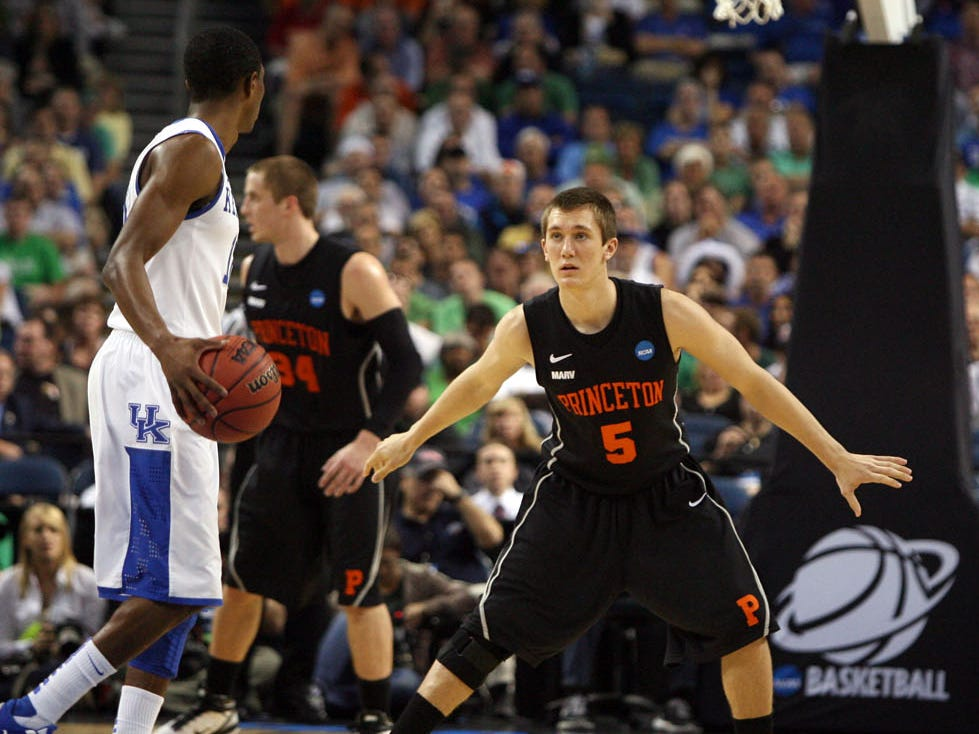 Catholic Memorial graduate TJ Bray competed in the 2011 NCAA Tournament with the Princeton Tigers. Bray and the Tigers fell to future Milwaukee Bucks guard Brandon Knight and the fourth-seeded Kentucky Wildcats in the opening round, 59-57.