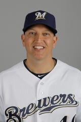 Milwaukee Brewers hitting coach Andy Haines.