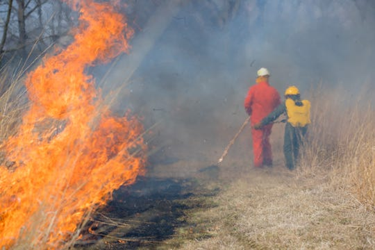 Students and instructors take part of the Wildland Firefighter Workshop with through Ball State University in 2017.