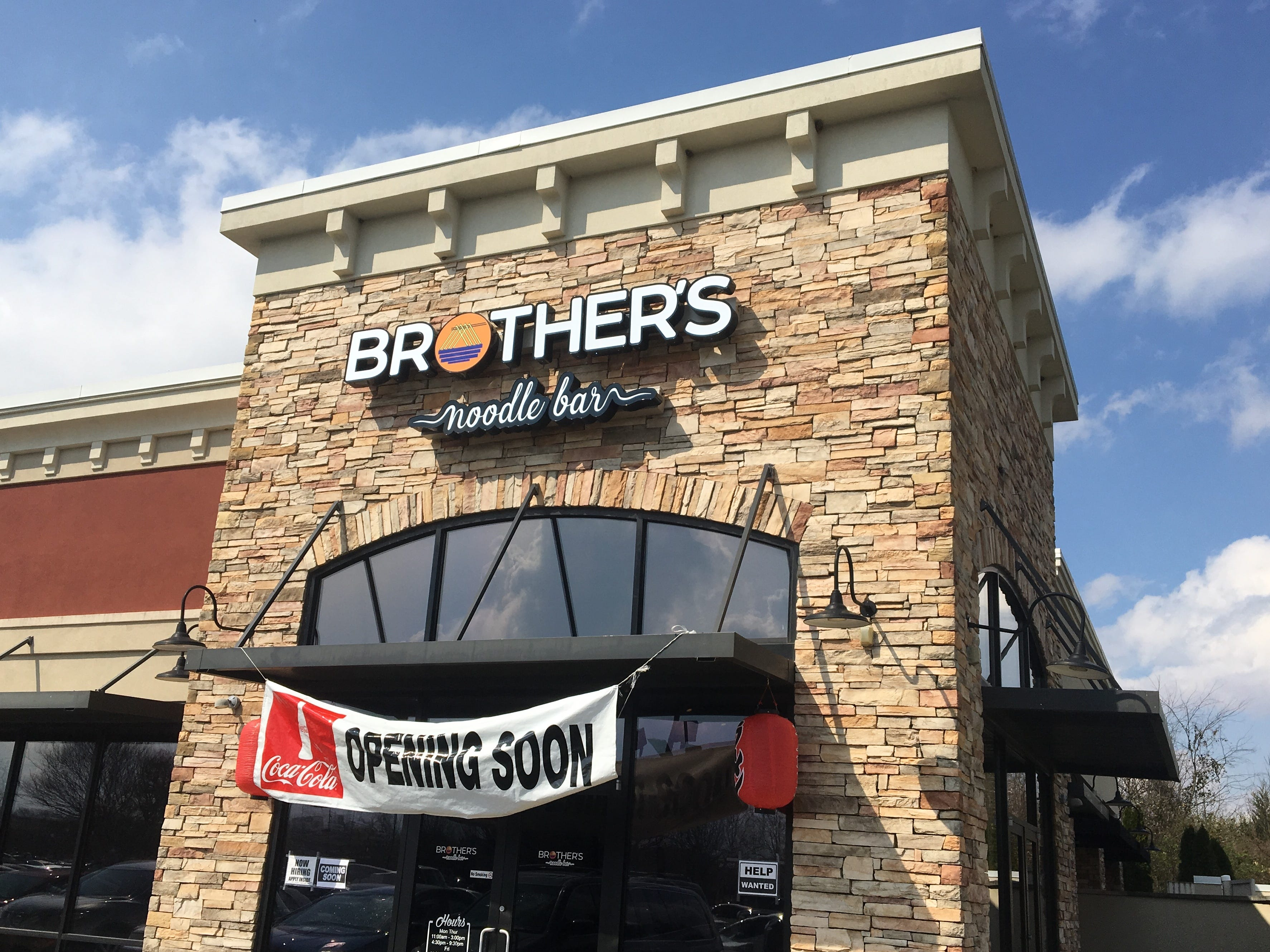 Brother's Noodle Bar is at 1970 Medical Center Parkway in Murfreesboro.