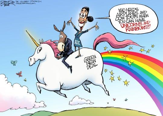AOC, unicorn, green new deal