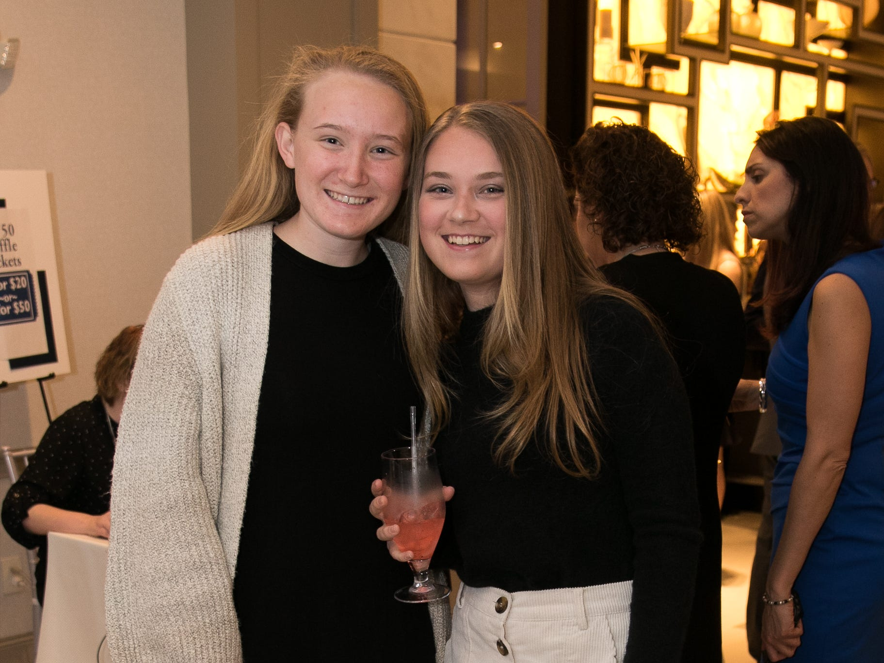 Delainey McGovern, Riley McGovern. Academy of The Holy Angels held their 22nd annual Angelic Evening at Edgewood Country Club in RiverVale. 03/22/2019