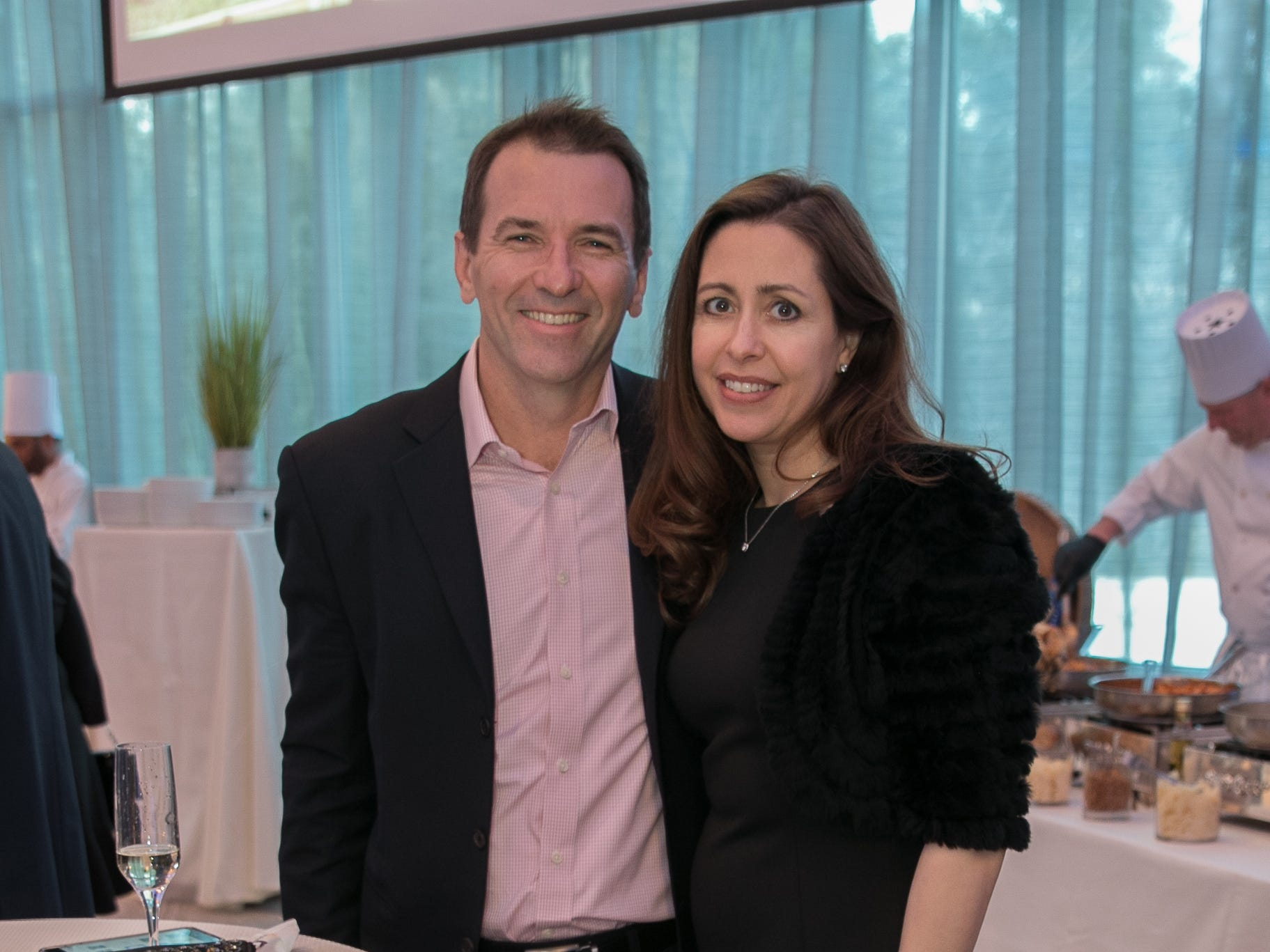 David Oaten, Dr. Tracy Scheller. Academy of The Holy Angels held their 22nd annual Angelic Evening at Edgewood Country Club in RiverVale. 03/22/2019