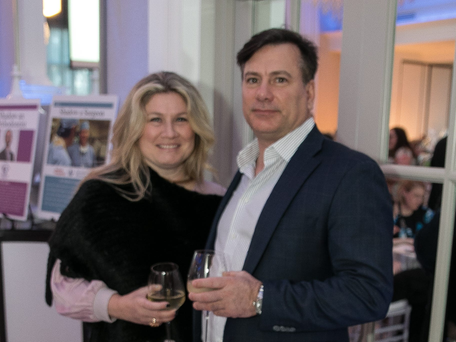 Timarie and Tom Toscano. Academy of The Holy Angels held their 22nd annual Angelic Evening at Edgewood Country Club in RiverVale. 03/22/2019