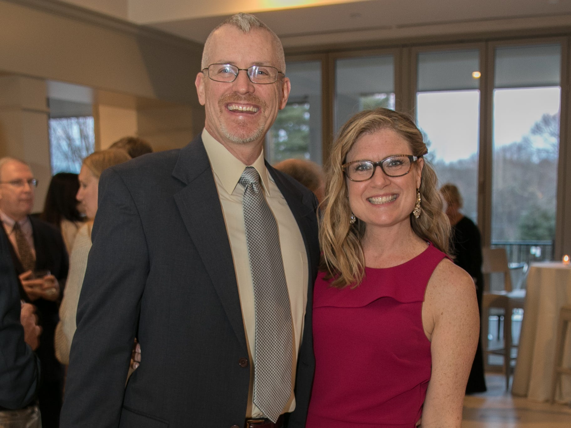 Michael McGovern, Michelle McGovern-Director of Admissions. Academy of The Holy Angels held their 22nd annual Angelic Evening at Edgewood Country Club in RiverVale. 03/22/2019