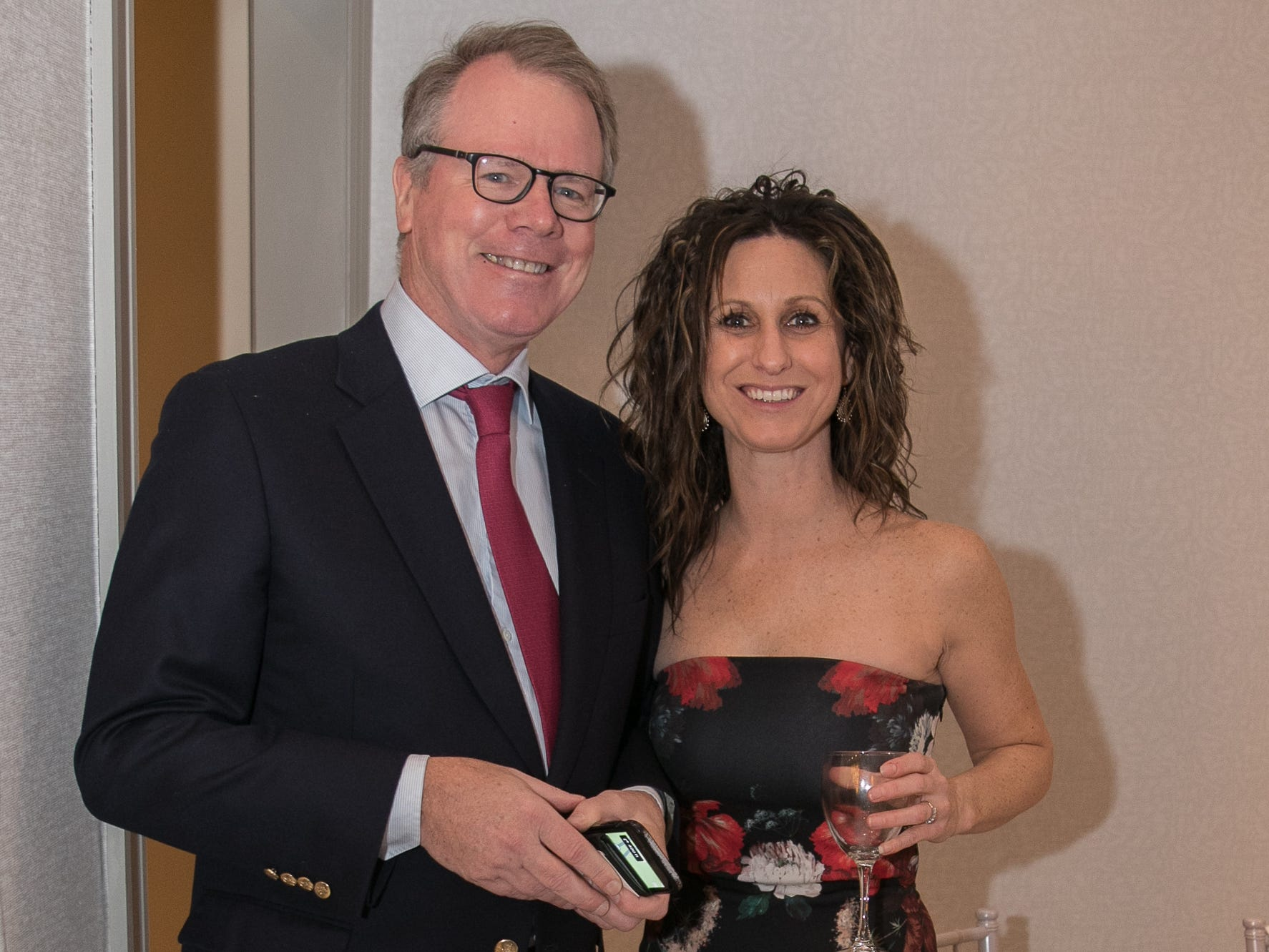 Brian McAuliffe, Amy Mahoney. Academy of The Holy Angels held their 22nd annual Angelic Evening at Edgewood Country Club in RiverVale. 03/22/2019