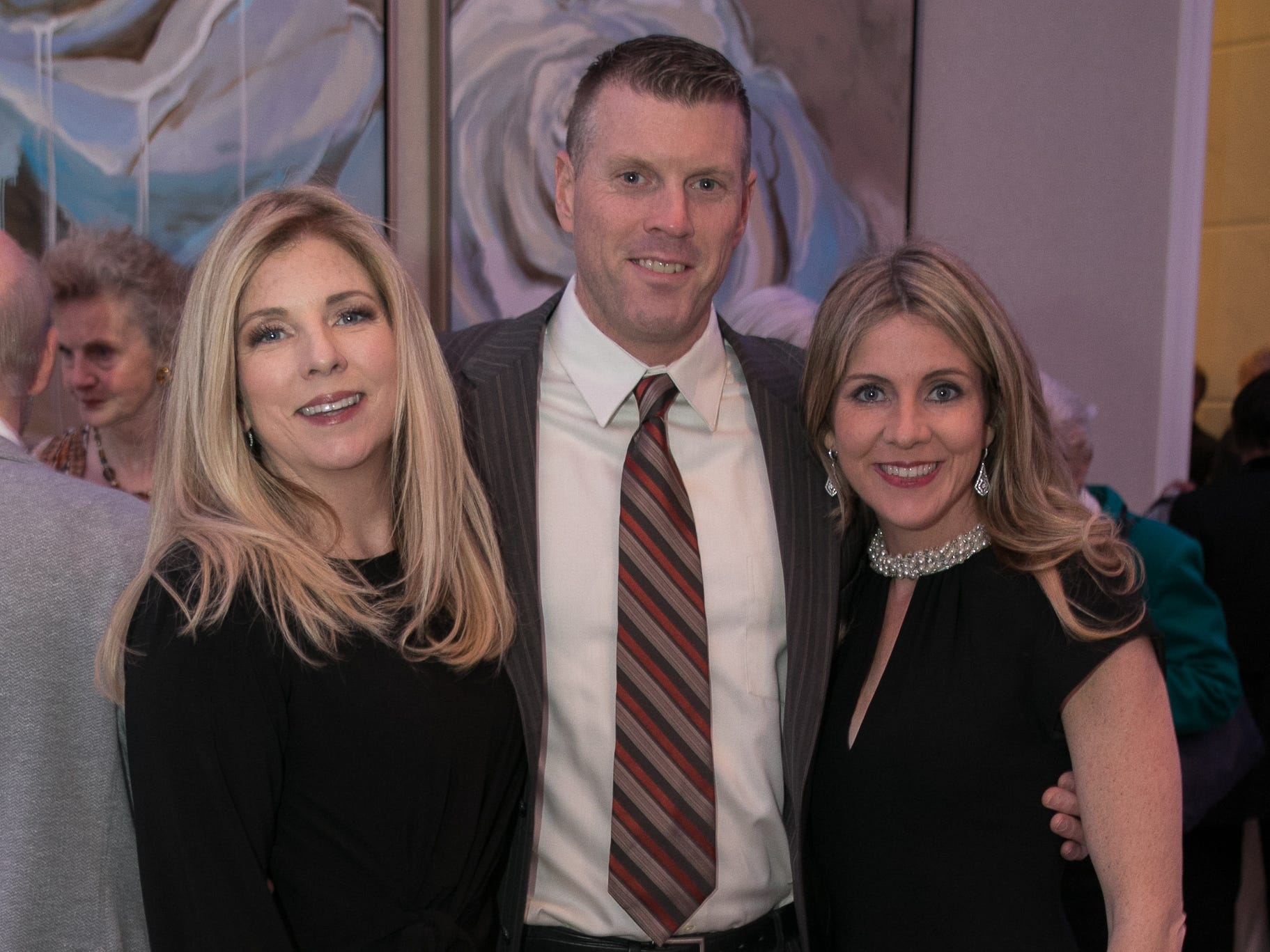 Geraldine Wacker, Dan Curtin, Jennifer O'Shea Curtin. Academy of The Holy Angels held their 22nd annual Angelic Evening at Edgewood Country Club in RiverVale. 03/22/2019