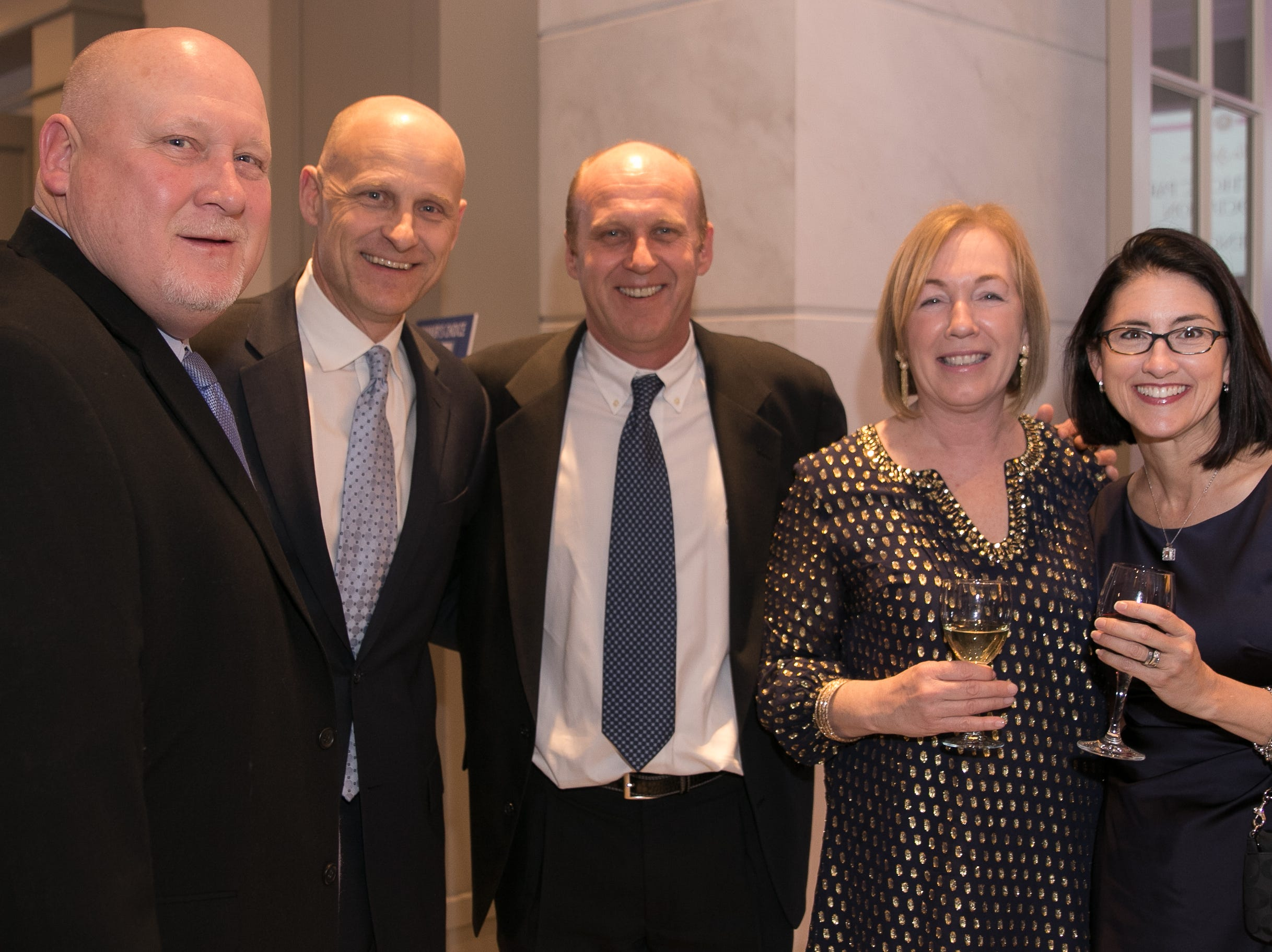 Bill McGovern, Rob McGovern, Dave McGovern, Colleen McGovern, Jenn Hill. Academy of The Holy Angels held their 22nd annual Angelic Evening at Edgewood Country Club in RiverVale. 03/22/2019