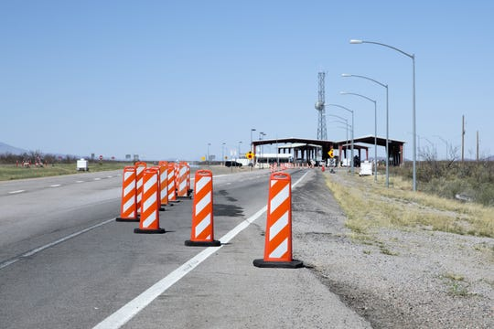 The U.S. Border Patrol checkpoint on Interstate 25 northbound in Doña Ana County, about 20 miles north of Las Cruces, was blocked off on Monday, March 25, 2019.