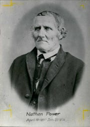 Nathan Power, Arthur Power's son, came to Farmington in 1826 and was the town's first schoolmaster. He too is buried in the Quaker Cemetery, along with his family members.