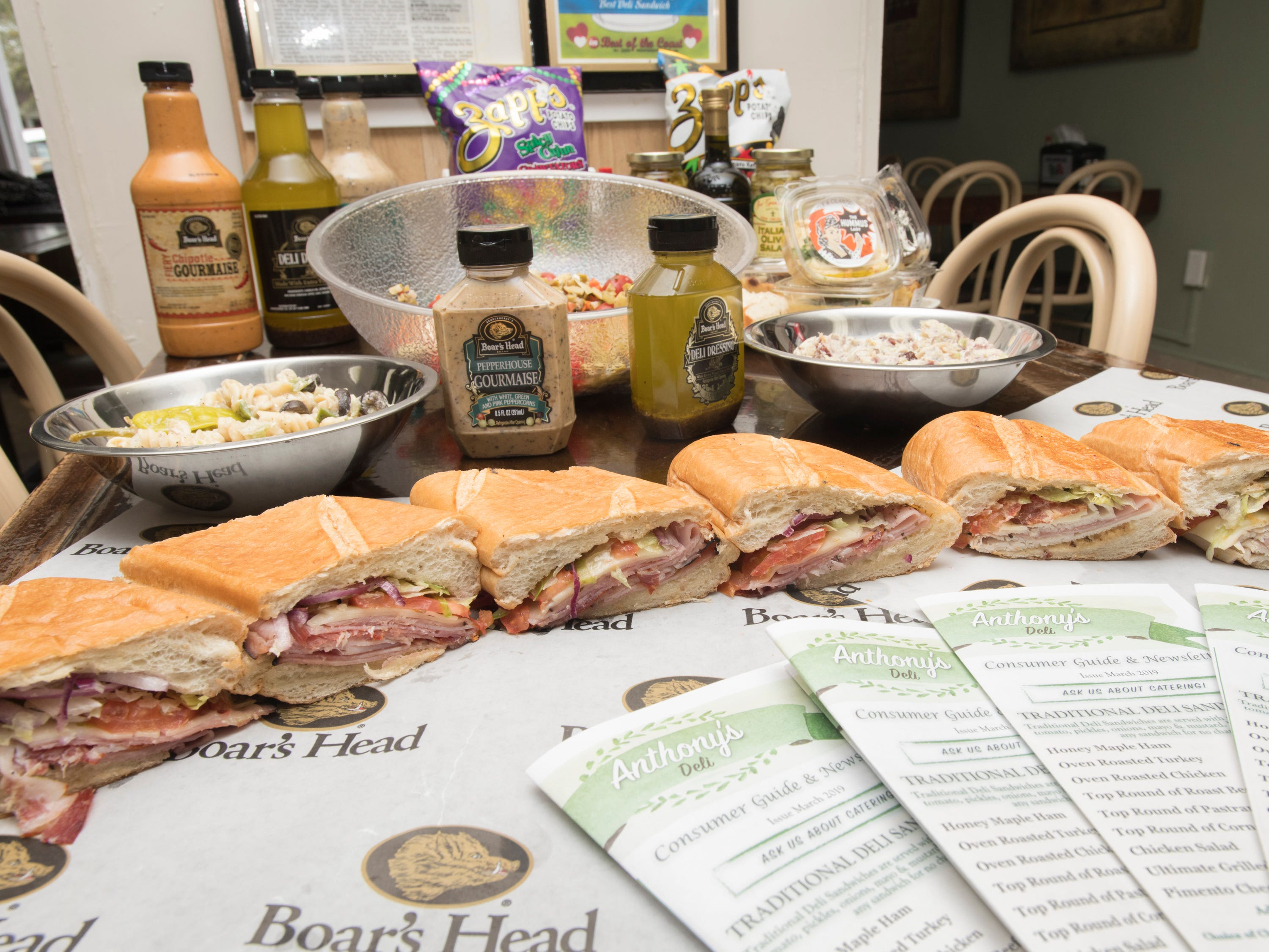 Anthony's Deli on Lilian Highway in Pensacola on Monday, March 25, 2019.