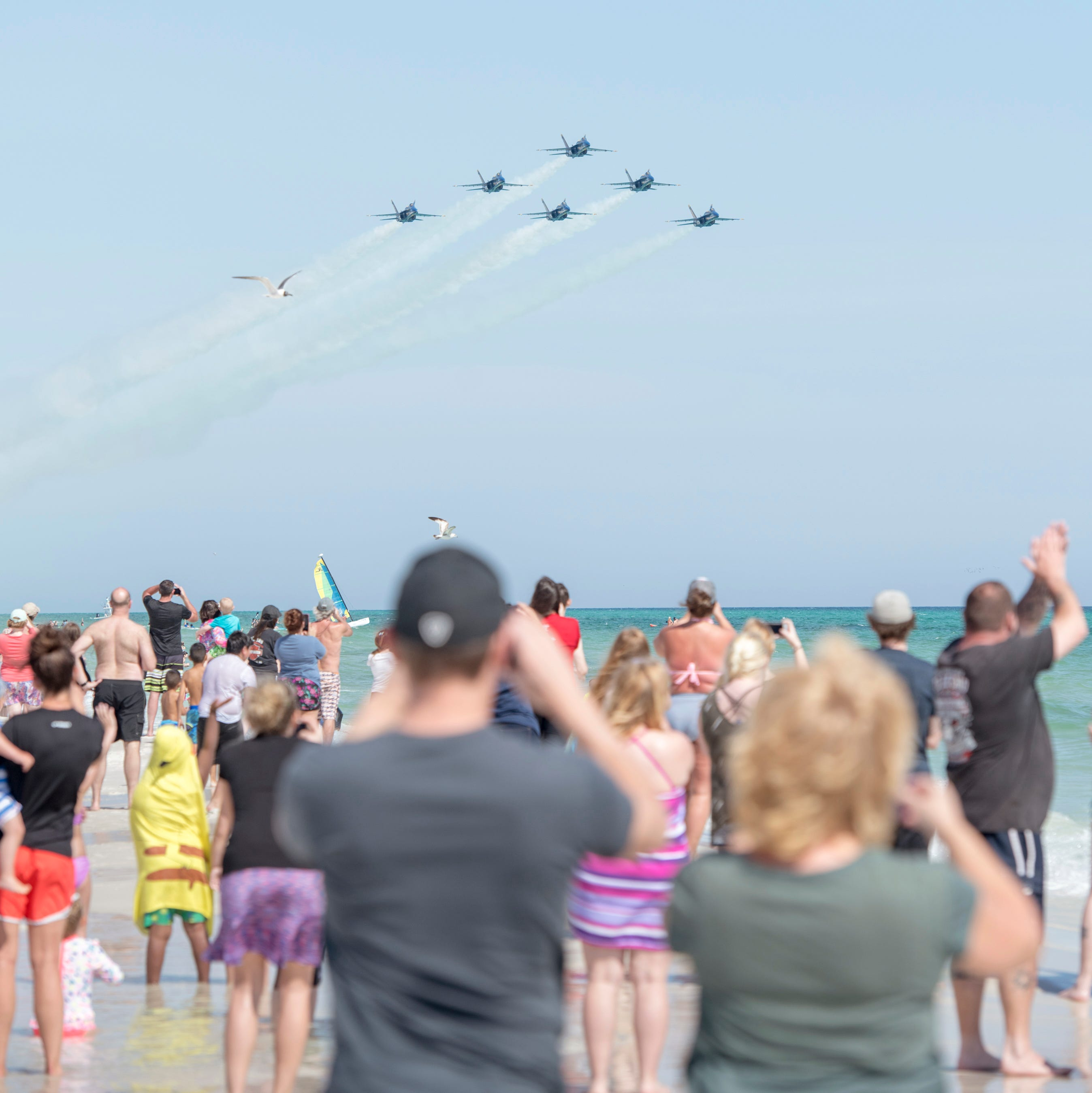 Blue Angels make their triumphant return to Pensacola. Did you catch them?