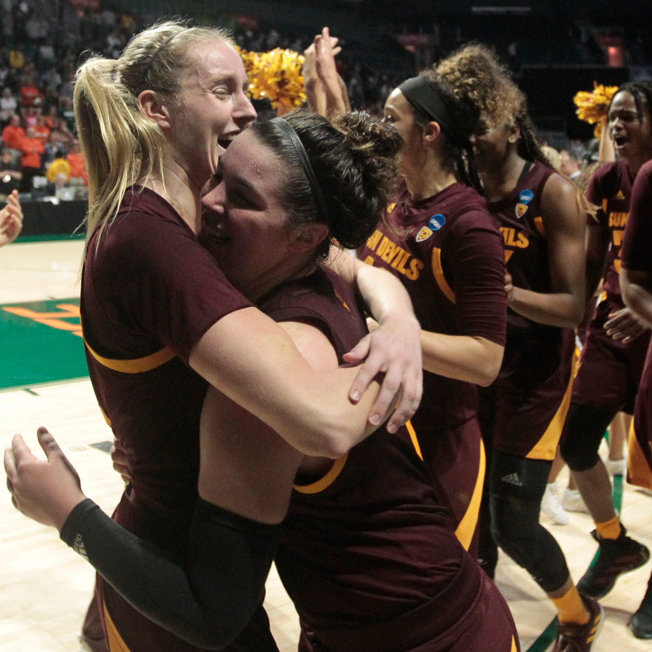 ASU women's basketball advances to Sweet 16 with clutch finish to beat Miami
