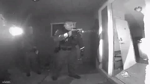 A Chandler father provided home-security video of Chandler police breaking down the door of a family's home for a DCS-requested welfare check of a child with a spiking fever, after parents refused to give police permission to enter their home, saying their toddler son was fine.