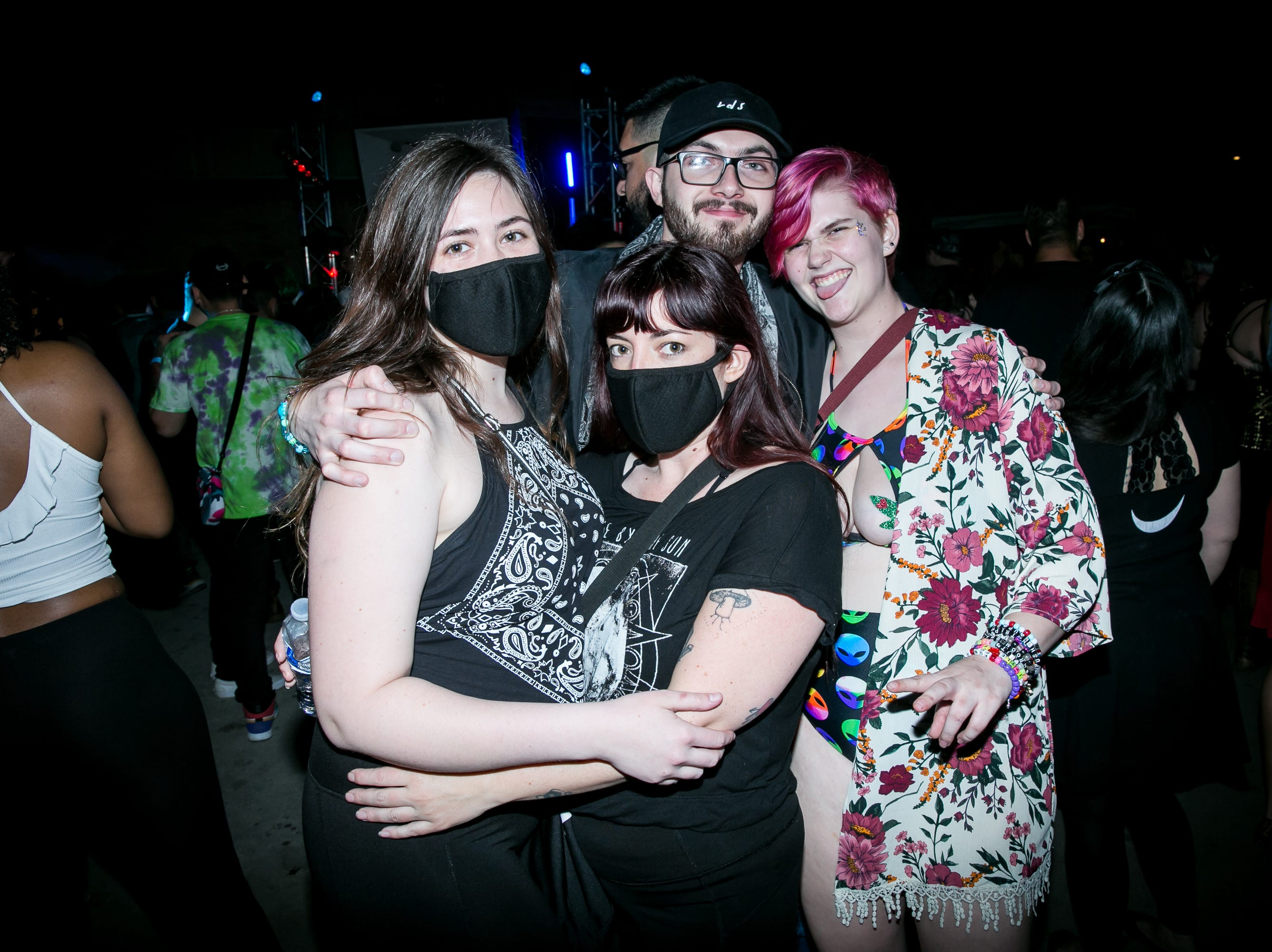 This group had fun at the Full Moon Festival at The Pressroom on March 23, 2019.