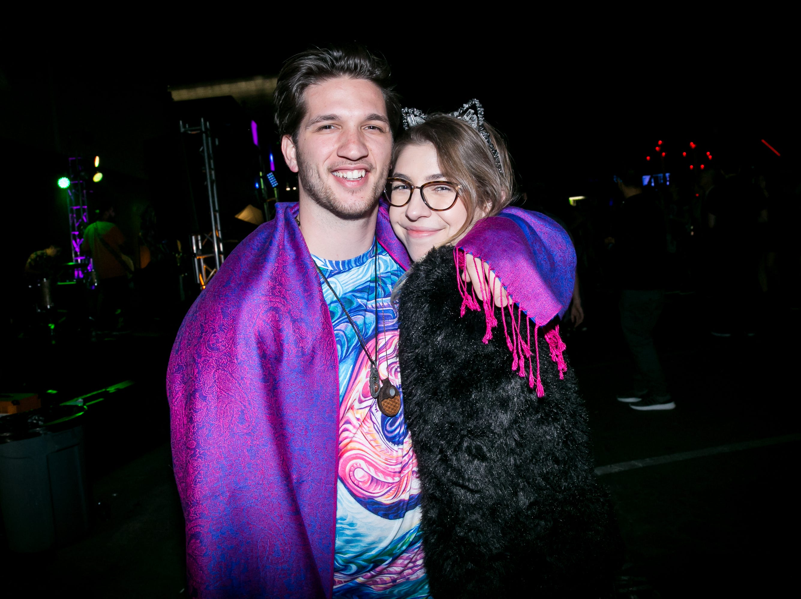 These two looked groovy at the Full Moon Festival at the Pressroom on March 23, 2019.