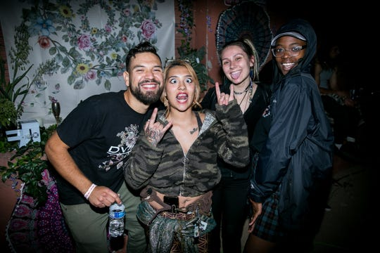 These pals got silly at the Full Moon Festival at The Pressroom on March 23, 2019.
