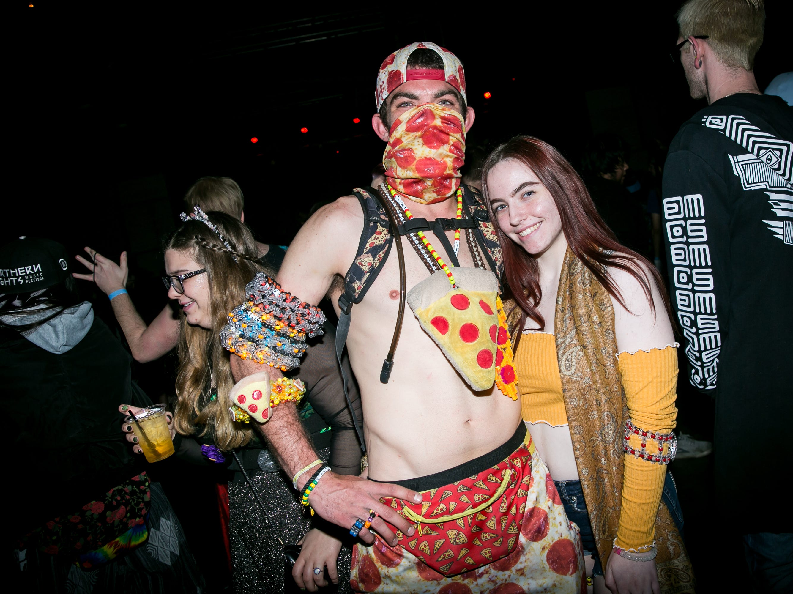 This pizza outfit was amazing at the Full Moon Festival at the Pressroom on March 23, 2019.