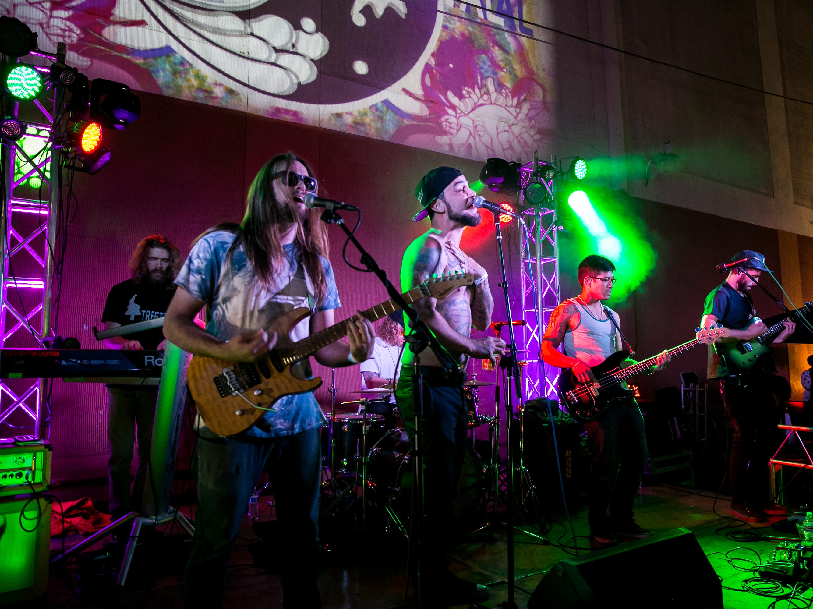 Black Bottom Lighters performed at the Full Moon Festival at the Pressroom on March 23, 2019.