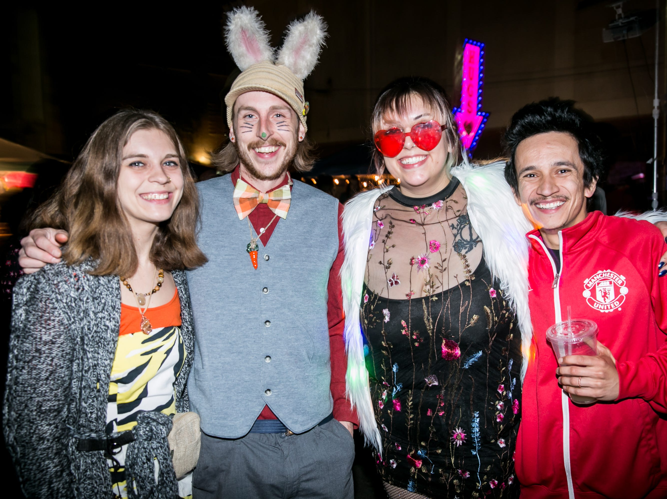 These pals took a trip to wonderland at the Full Moon Festival at the Pressroom on March 23, 2019.