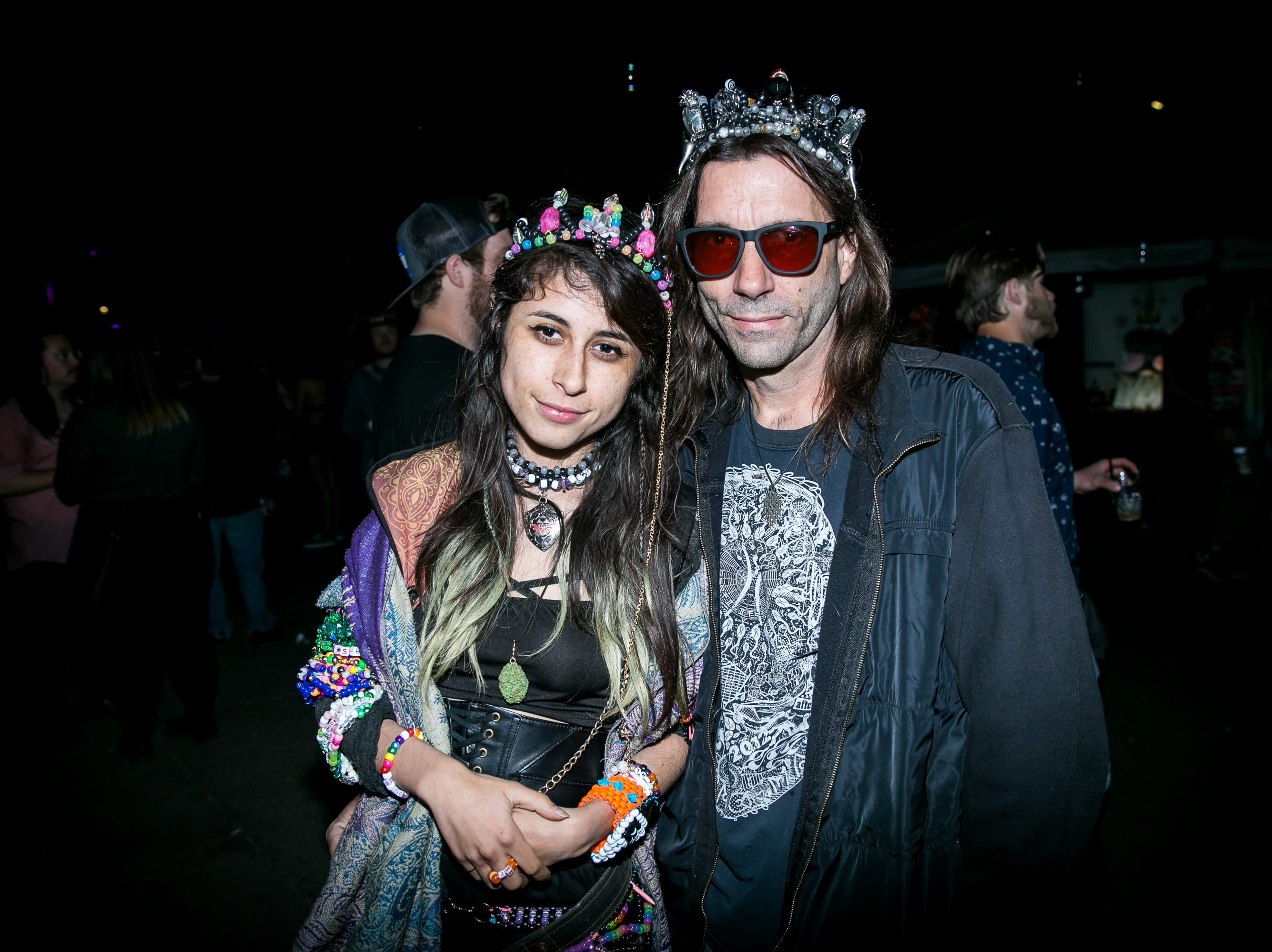 These two were party royalty at the Full Moon Festival at the Pressroom on March 23, 2019.
