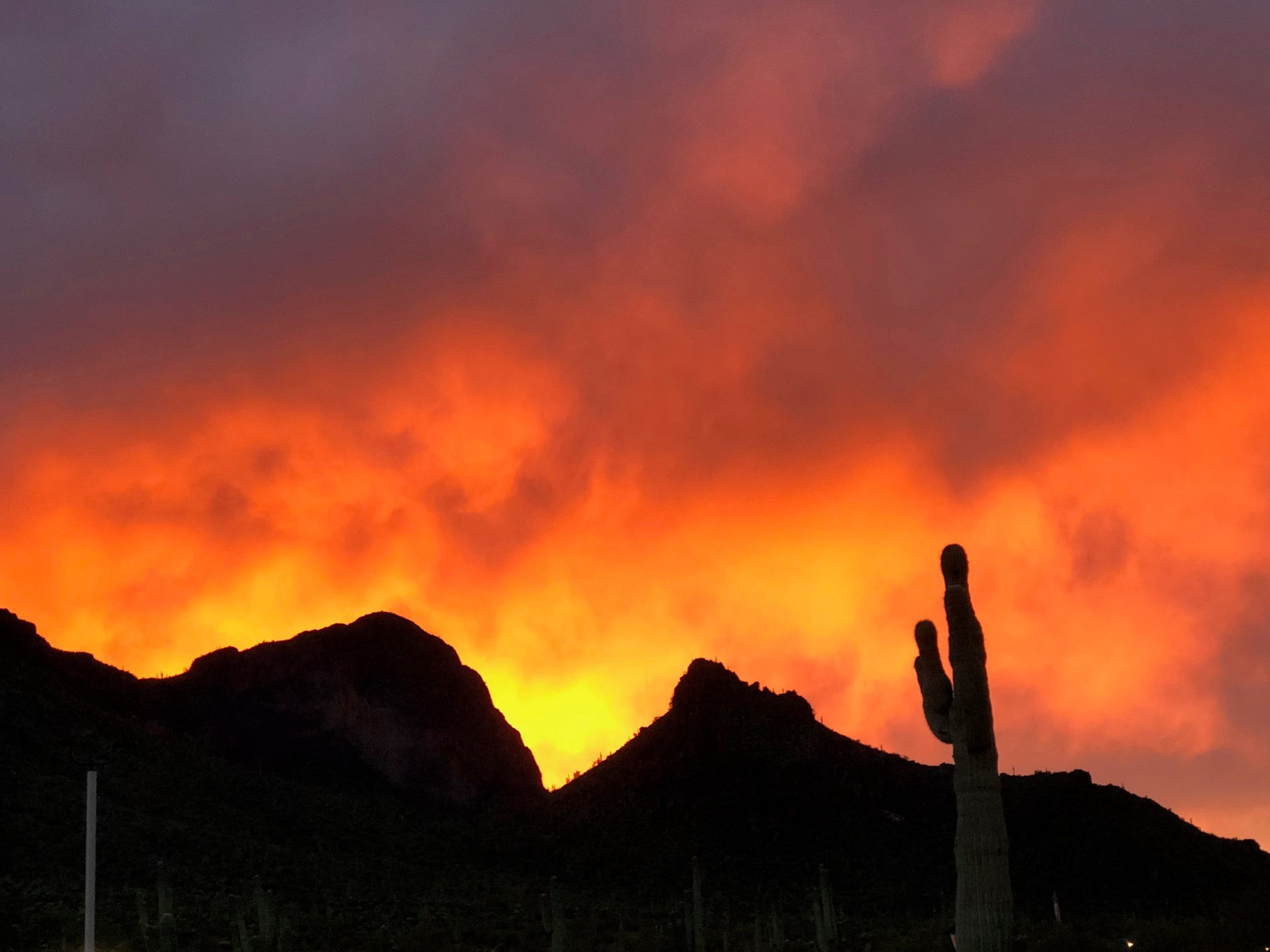 Picacho peak sunset.