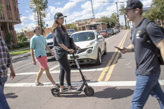 According to the National Association of City Transportation Officials, Americans took nine million trips on dockless bikes in 2018. They took 38.5 million trips on shared scooters.