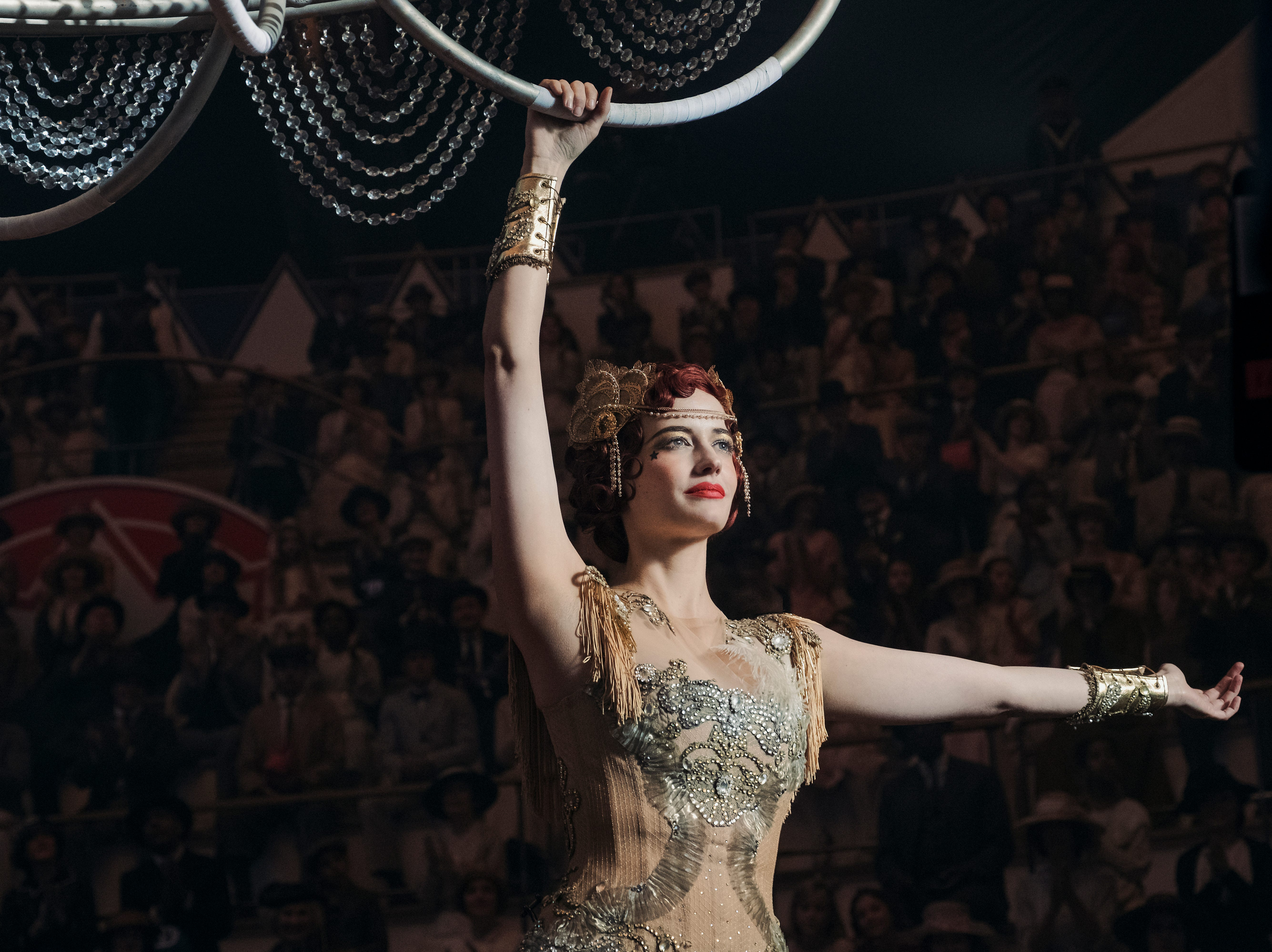 "Eva Green plays aerialist and circus star Colette Marchant in ""Dumbo."""