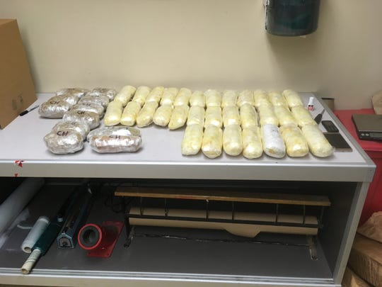 Meth seized on March 22, 2019
