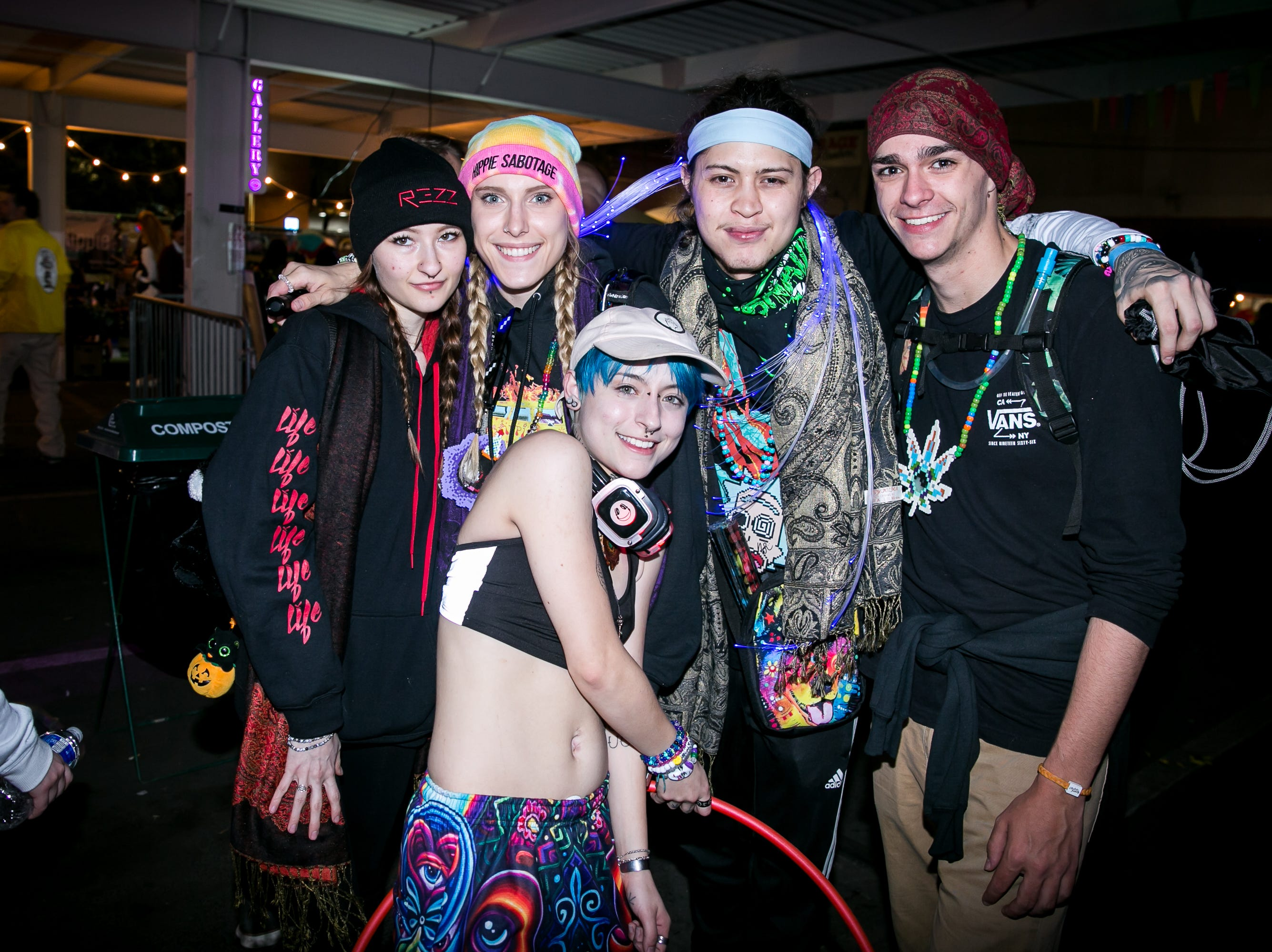 This group looked colorful at the Full Moon Festival at the Pressroom on March 23, 2019.