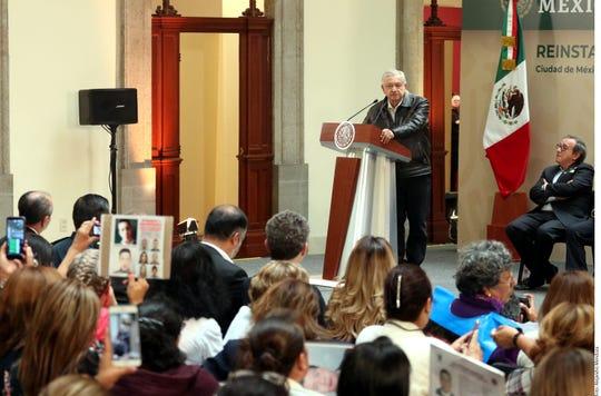 AMLO ofreció presupuesto ilimitado a la Secretaría de Gobernación para la búsqueda de desaparecidos.