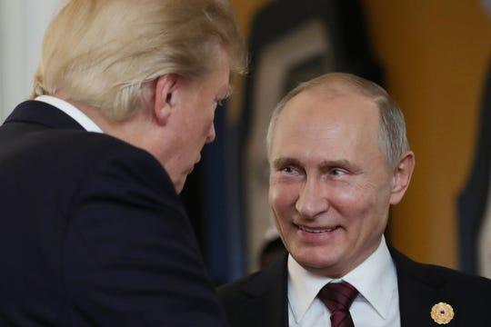 Los presidentes de EEUU y Rusia, Donald Trump y Vladimir Putin, respectivamente, durante uno de sus encuentros.
