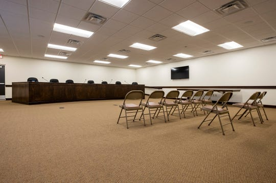 A new meeting room was added onto the Clyde Township offices during recent renovations.