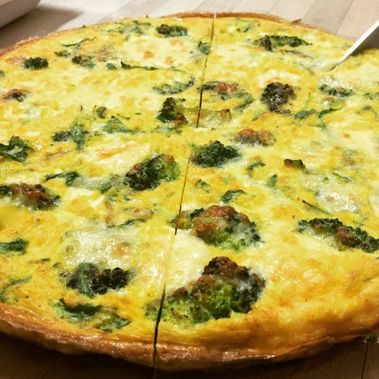 The frittata of the day is shown at Babette's Kitchen.