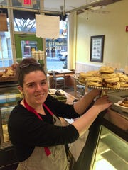 Babette's Kitchen head baker is Jessica Quick, shown with a plate of biscuit sandwiches at the Millbrook shop.