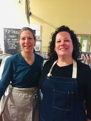 Beth Daidone, left, and Buffy Arbogast are the owners of Babette's Kitchen in Millbrook.