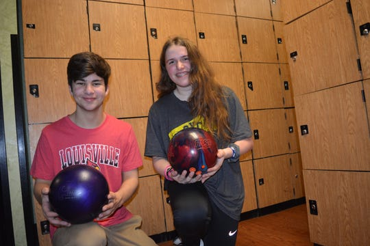 Two York teenage bowlers, Max Minnich, left, and Maribeth Baker, will compete in the USA Bowling National Championship in Detroit on July 11-12.