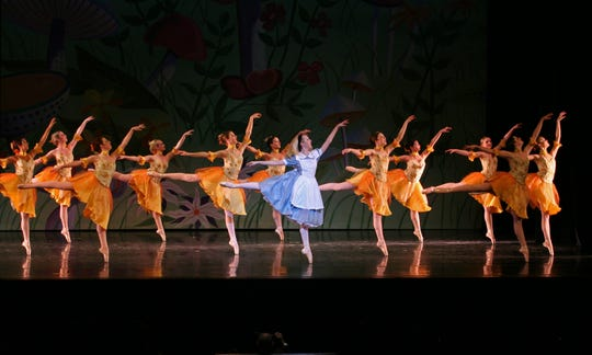 "A waltz performance in ""Alice in Wonderland"""