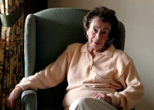 Carolyn Jean Carlon, one of Nevada?s first female police officers, sits in her Reno home in 2008.
