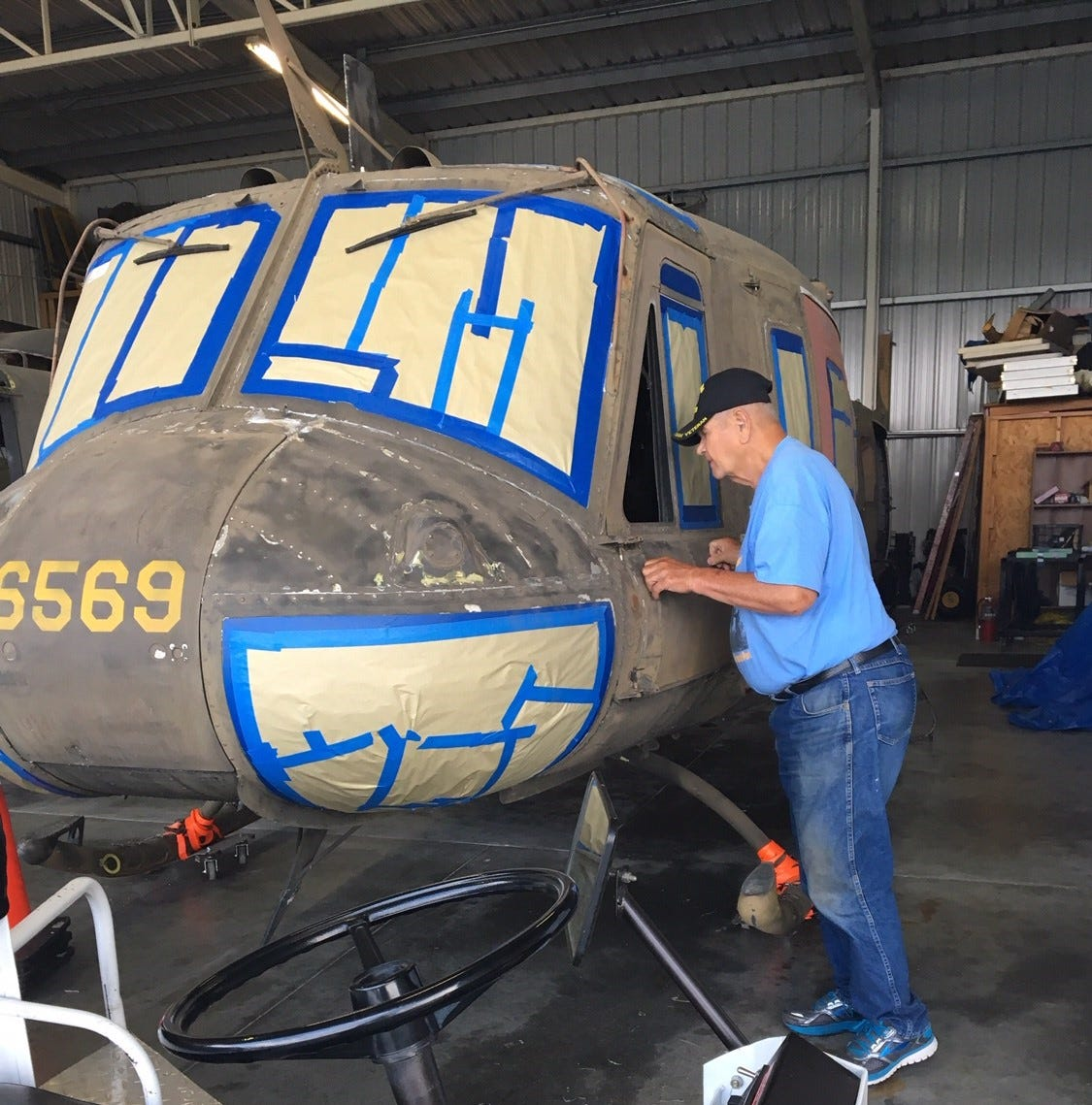 'Huey' helicopter scheduled to be installed at Veterans Memorial Park