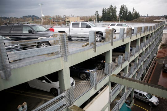 Cars parked at the Chemeketa Parkade in downtown Salem on March 25, 2019. The Salem City Council will consider requiring downtown residents purchase a parking permit if they use the city's parking structures when they aren't shopping.