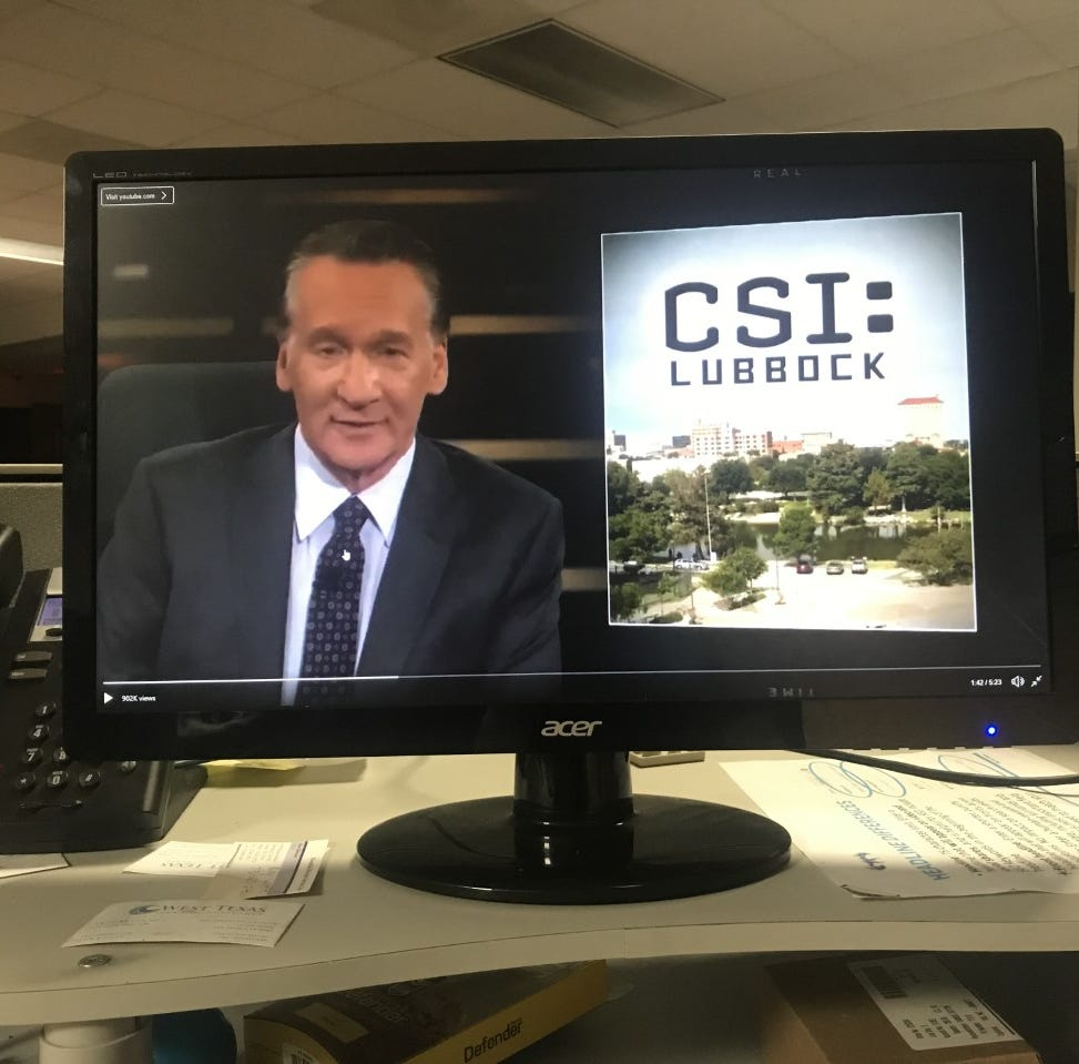 Political commentator Bill Maher mistakenly uses photo of San Angelo when mocking Lubbock