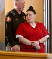 Andrea Mullens appears in court March 25, 2019.
