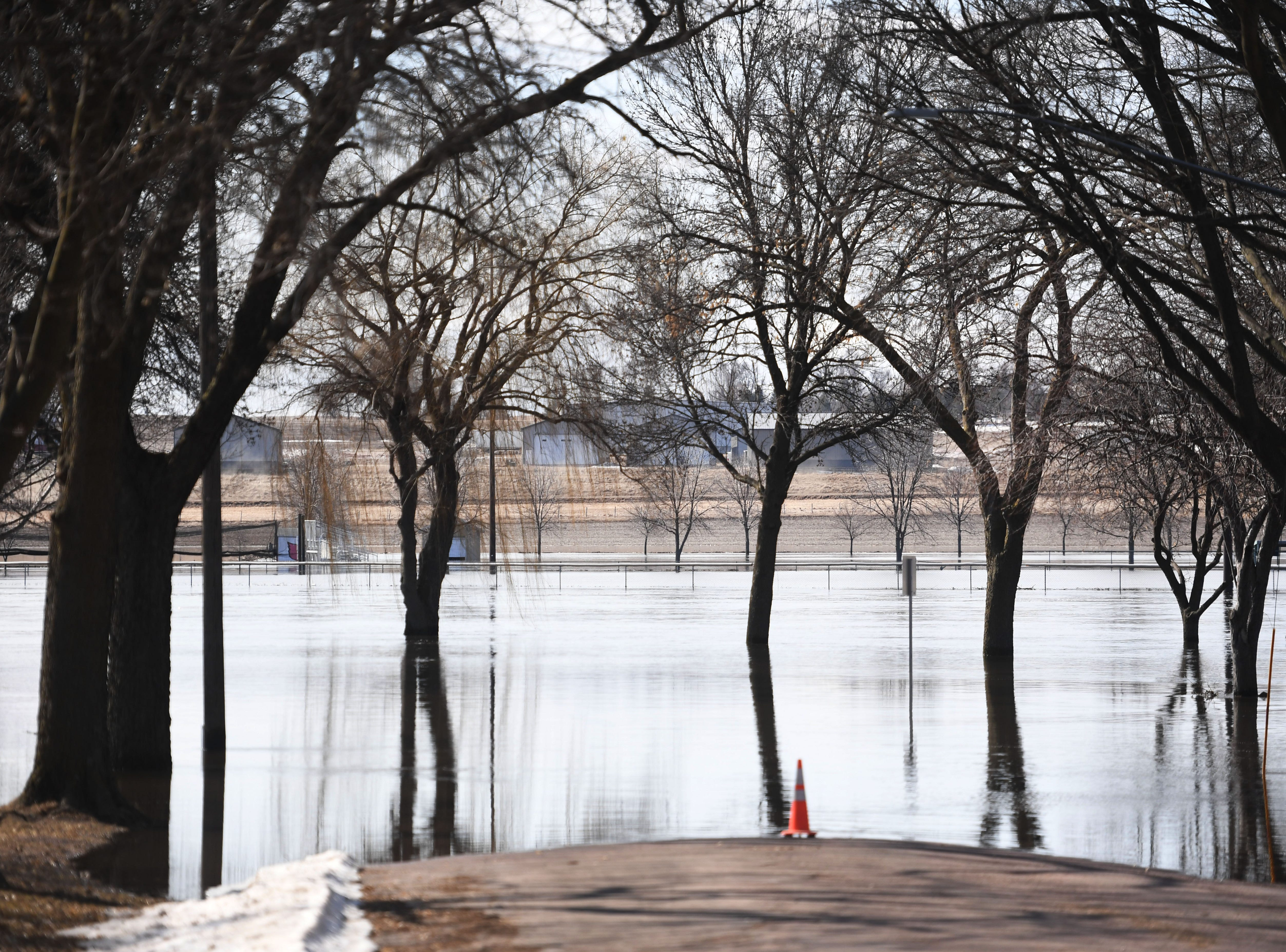 Flooding in Baltic Monday, March 25, in Baltic, S.D.