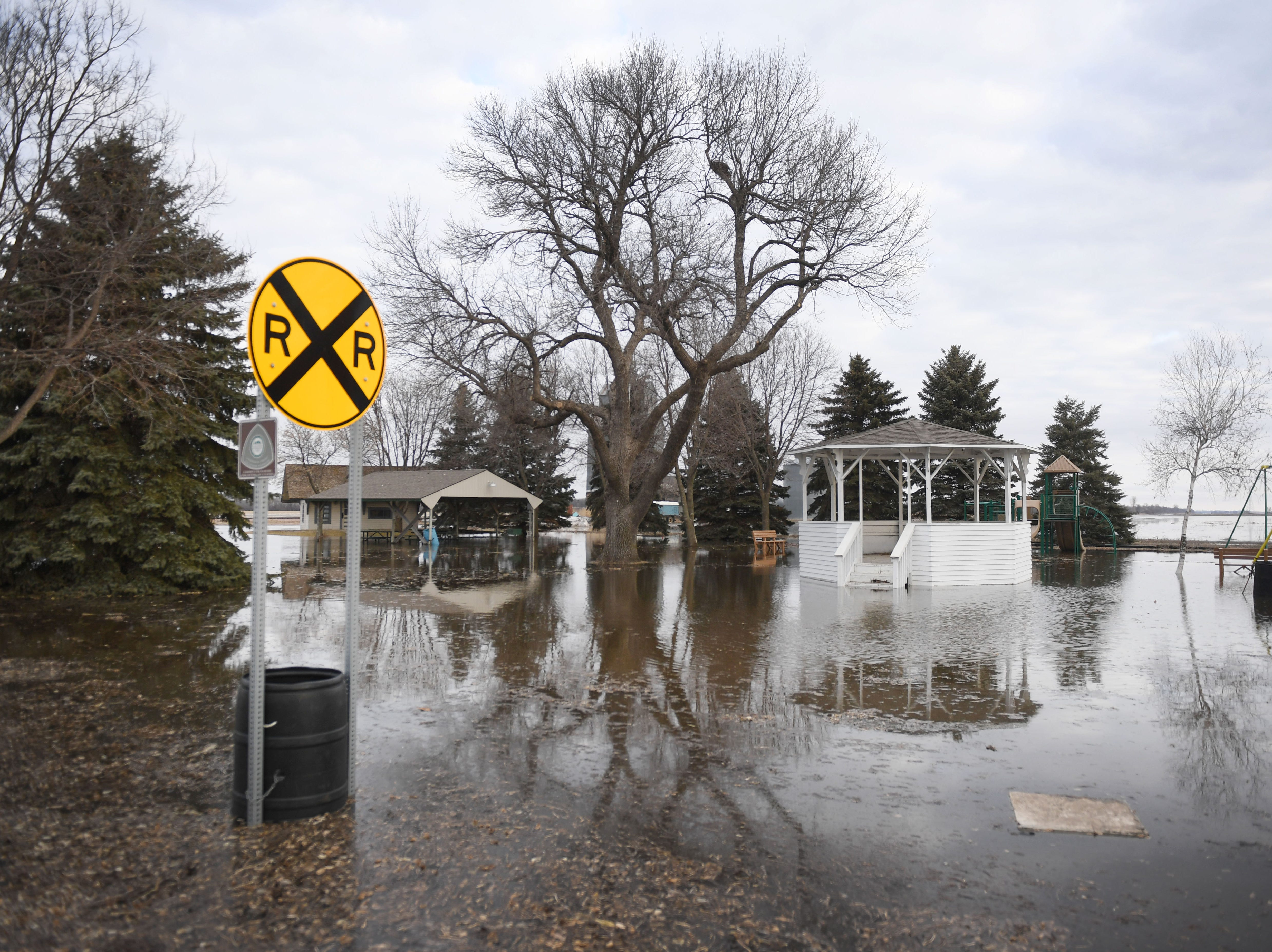 Flooding in Renner Monday, March 25, in Renner, S.D.